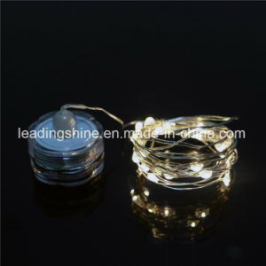 Submersible Wedding Warm White Decor 7.2 Feet 20 LED Copper Silver Wire Fairy Light String pictures & photos