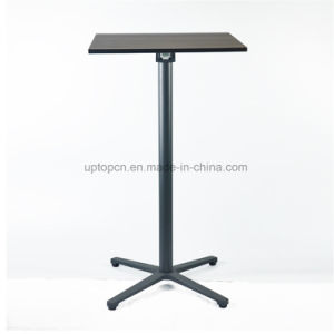 Convenient Space Saving Adjustable High Bar Table with Wood Top (SP-BT706) pictures & photos