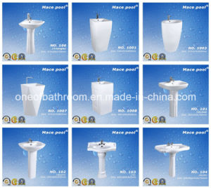 Economic Pedestal Basin Wash Sink for Africa Market pictures & photos
