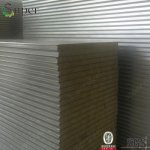 Rockwool Sandwich Panel, Insulated Rockwool Sandwich Roof Panel Factory pictures & photos