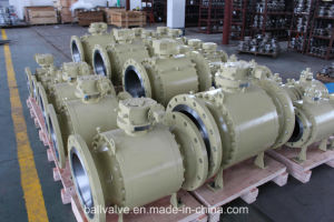 Full Bore Flanged 3PCS Fixed Ball Valve pictures & photos