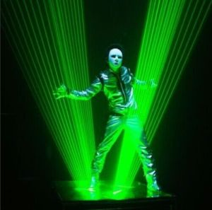 Pure Cni Green Laser Man for Laser Show Laser Display pictures & photos