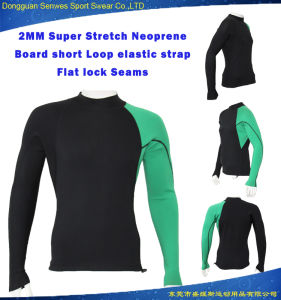 2mm Men Smooth Skin Neoprene Long Sleeve Fitness Surf Wetsuit pictures & photos