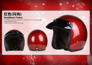 Metal Flake Open Face Helmet for Motorcycle/Bicycle with DOT, Ce Approved. pictures & photos