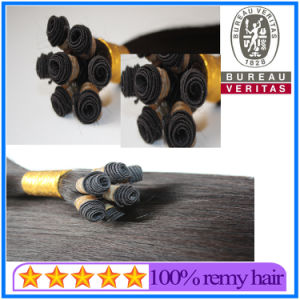 Hand Made High Quality Brazilian Virgin Hair Extension pictures & photos