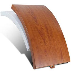 Wood Grain Colour Decorative Aluminum Curtain Wall Panel for Interior Decoration pictures & photos