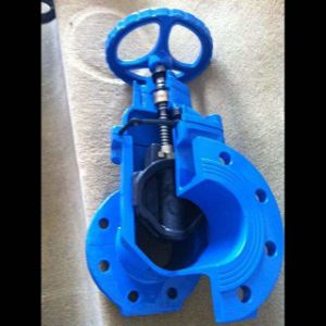 EPDM Rubber Coated Wedge Rising Stem Resilient Seat Gate Valve (Z41X) pictures & photos