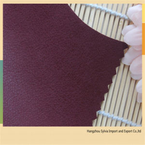 PU Synthetic Leather Shoe Material pictures & photos