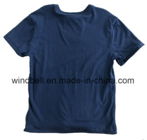 Peached Cotton T-Shirt for Boy with Discharge Printing pictures & photos
