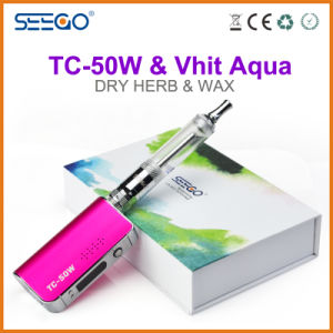 Seego Patented E-Cigarette Vhit Aqua Tank Pen+Tc 50W Battery Box Vape Mod with Large Capacity pictures & photos