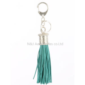Fashion Casual PU Leather Tassels Women Keychain Bag Pendant Alloy Car Key Chain Ring Holder Retro Jewelry pictures & photos