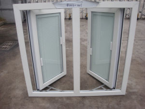 PVC Hinge Windows Double Glazed with Built in Blinds pictures & photos