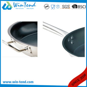 Non Stick Heat Conduction Combine Sandwich Bottom Frying Pan with Non-Stick Coating pictures & photos