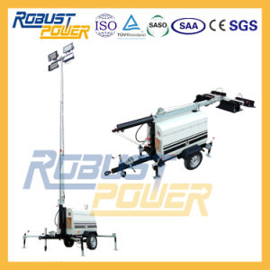 9m LED Lamp Kobuta Engine Diesel Generator Telescopic Portable Light Tower pictures & photos