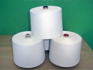 Virgin and Raw White Spun Polyester Yarn for Weaving