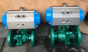 Pn40 Flange Ball Vale with Pneumatic Actuator Double Acting pictures & photos