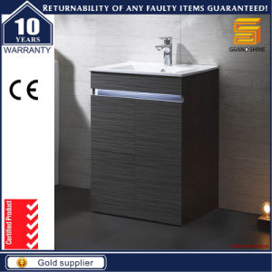 Customized Black Lacquer MDF Melamine Bathroom Cabinet with Legs pictures & photos
