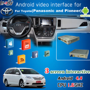 Android GPS Navigation Box Video Interface for 2016 Toyota Sienna, Google Play Store, WiFi/Bt/Mirrorlink pictures & photos