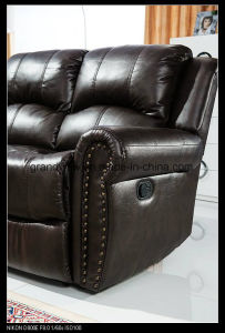 Sectional Air Leather Sofa with Left Arm Facing Reclining Sofa and Loveseat pictures & photos