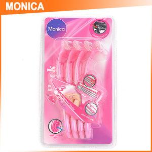 4PC Blister Pack Pink Women Disposable Shaving Razor