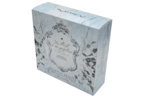 Fashion Brand Design Paper Cosmetic Box with Embossing Printing
