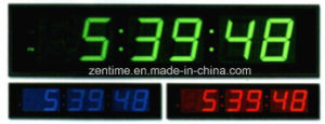 6-Digit LED Digital Wall Clock pictures & photos