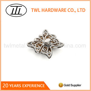 Customized Shape Silver Butterfly Turn Lock Twist Lock for Purse pictures & photos