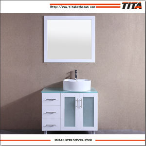 White Lacquer Glass Vanity Top Bathroom Vanity T9140-24W pictures & photos