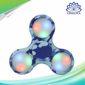Camouflage LED Light Hand Gift Toy Finger Fidget Mini Spinner with Retail Box pictures & photos