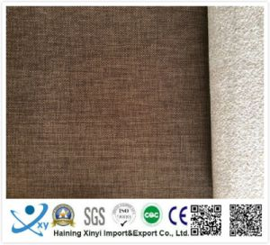 Hot Sale 100 Polyester Linen Fabric, Fire Retardant Curtain Fabric pictures & photos