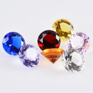3cm Wedding Home Office Decoration Souvenir Gift Crystal Glass Diamond Fengshui Paperweight Crafts (#2411) pictures & photos