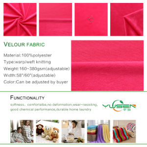 Fashion Design High Quality Super Soft Polyester Velour Fabric pictures & photos