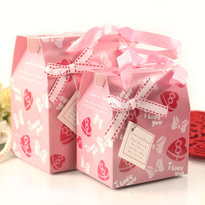 New Design Custom Paper Gift Packaging Box with Ribbon pictures & photos