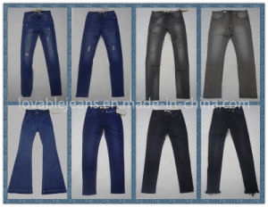 7.3oz Dark Blue Super Skinny Jeans (HY0616E) pictures & photos