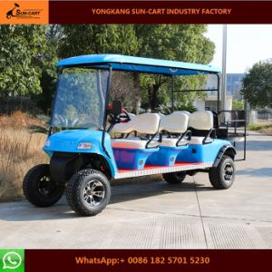 Hot Sale 8 Passenger Electric Hunting Golf Cart (Rear back flip seats) pictures & photos