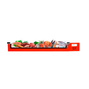 Front Clear Horizontal Seafood Display Cabinet Chest Freezer pictures & photos