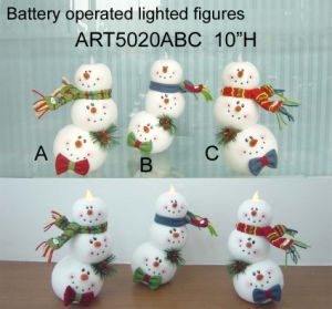 Lighting Stacking up Snowman Head LED Christmas Decoration pictures & photos