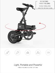 One Second Folding Electric Bike/High Speed City Bike/Electric Vehicle/Super Long Life Electric Bicycle/Lithium Battery Vehicle pictures & photos