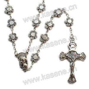 New Product Metal Rose Rosary Necklace, Fashion Necklace
