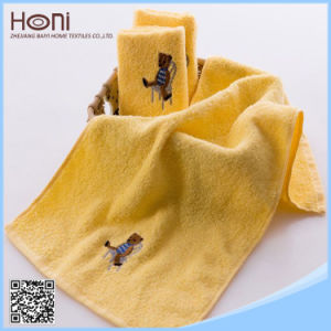 China Supplier Embroidery Sports Towel 100% Cotton Plain Dyed Towel