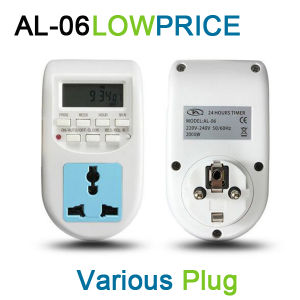 220V-240V Energy Saving Timer Programmable Electronic Timer Socket Digital Timer EU Plug (AL-06) pictures & photos