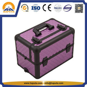 Purple Diamond Makeup Case Wil Slid-out Trays (HB-6307) pictures & photos