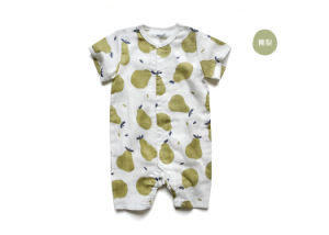 Eco-Friend Banana Printing Organic Cotton Romper for Baby pictures & photos
