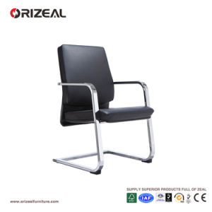Orizeal Leather Guest Chair, Italian Leather Chair, Upholstered Visitor Armchairs (OZ-OCL008C) pictures & photos
