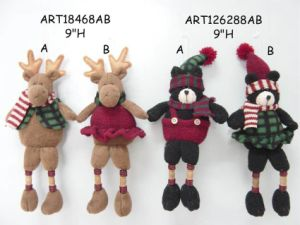 Reindeer and Bear Ornaments with Button Legs, Christmas Decoration pictures & photos