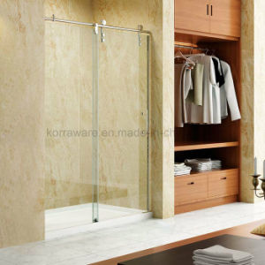 Hotcake in North America Frameless Stainless Steel Big Roller Shower Enclosure Room Door pictures & photos