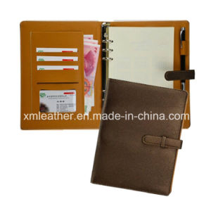 Fashion Ring Binder Leather Custom Notebook Diaries pictures & photos