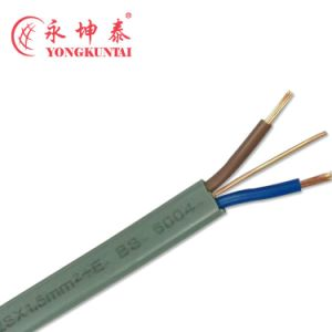 Three Core PVC Insulated Flat Electric Wire Solid Copper Wire BVVB pictures & photos