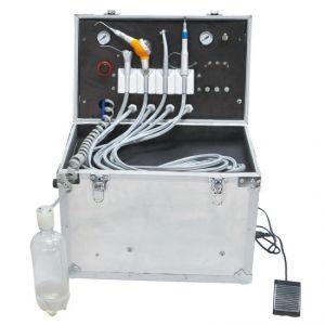 Hot Sale Portable Dental Turbine Unit Suction Work Air Compressor 3 Way Syringe 4 Hole Price -Alisa pictures & photos