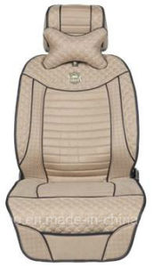 Leatherette Car Seat Cover Flat Shape Cushion with Strips Embroidery pictures & photos